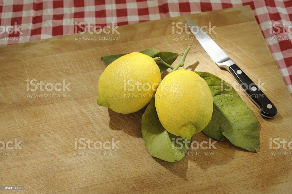 Freshly Cut Organic Lemons royalty-free stock photo
