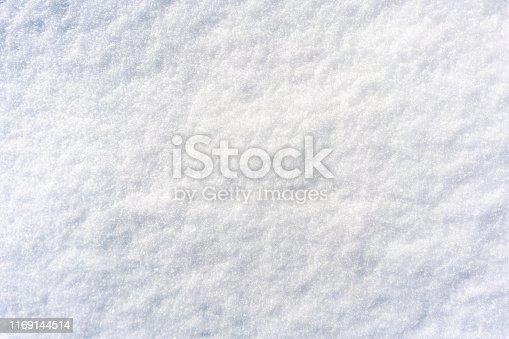 istock Freshly fallen soft snow surface 1169144514