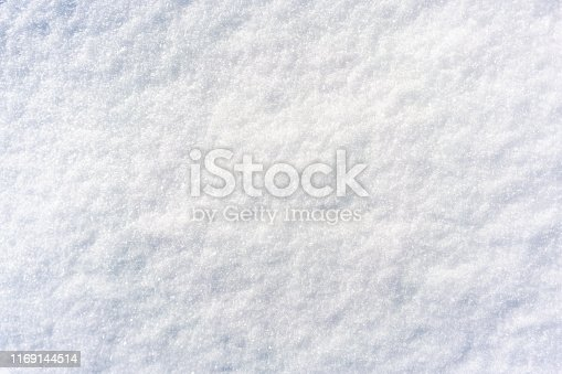 istock Freshly fallen soft snow surface 1169144514