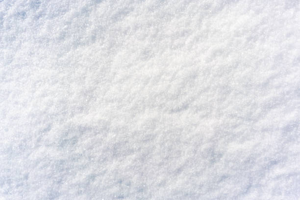 Freshly fallen soft snow surface stock photo