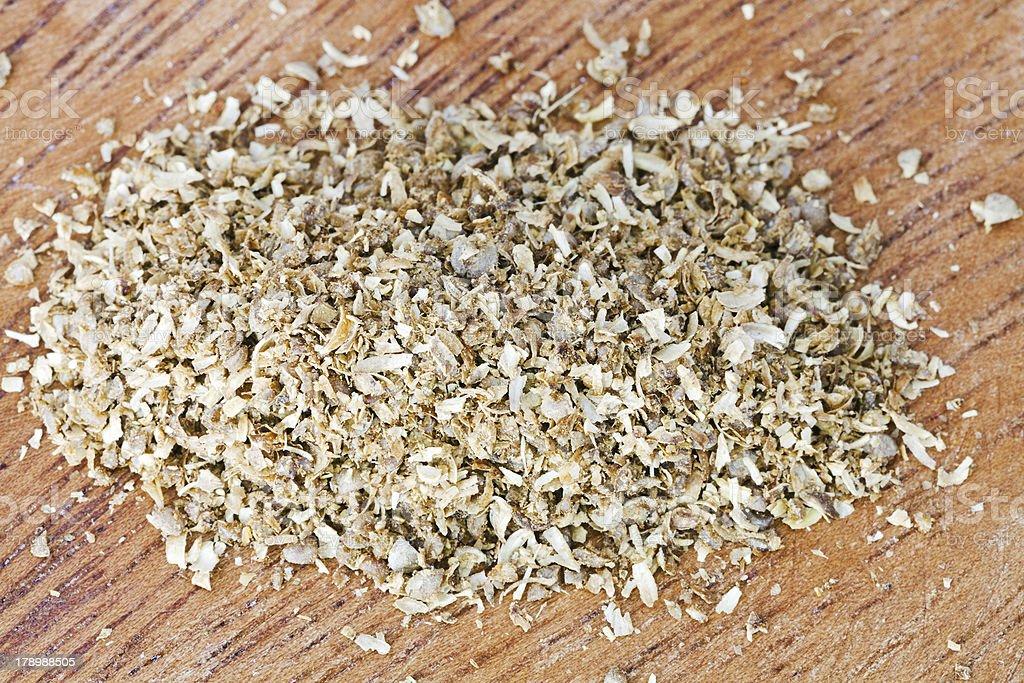 freshly ground dried coriander seeds royalty-free stock photo