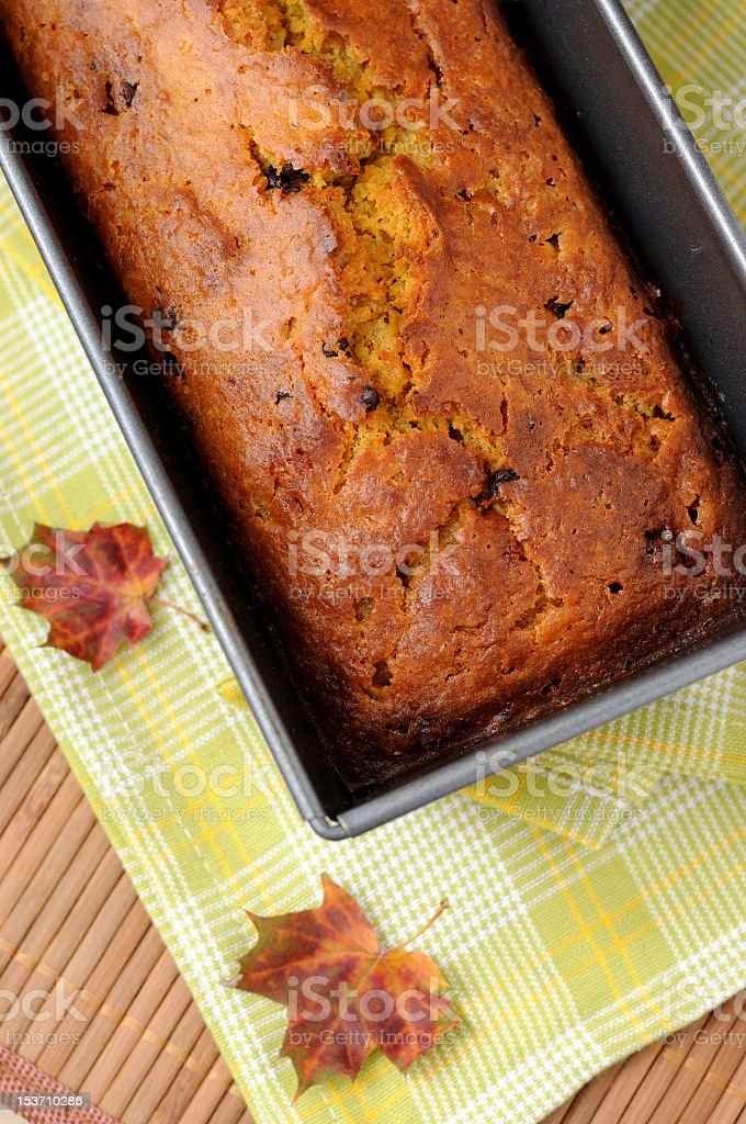 A freshly made delicious pumpkin bread royalty-free stock photo