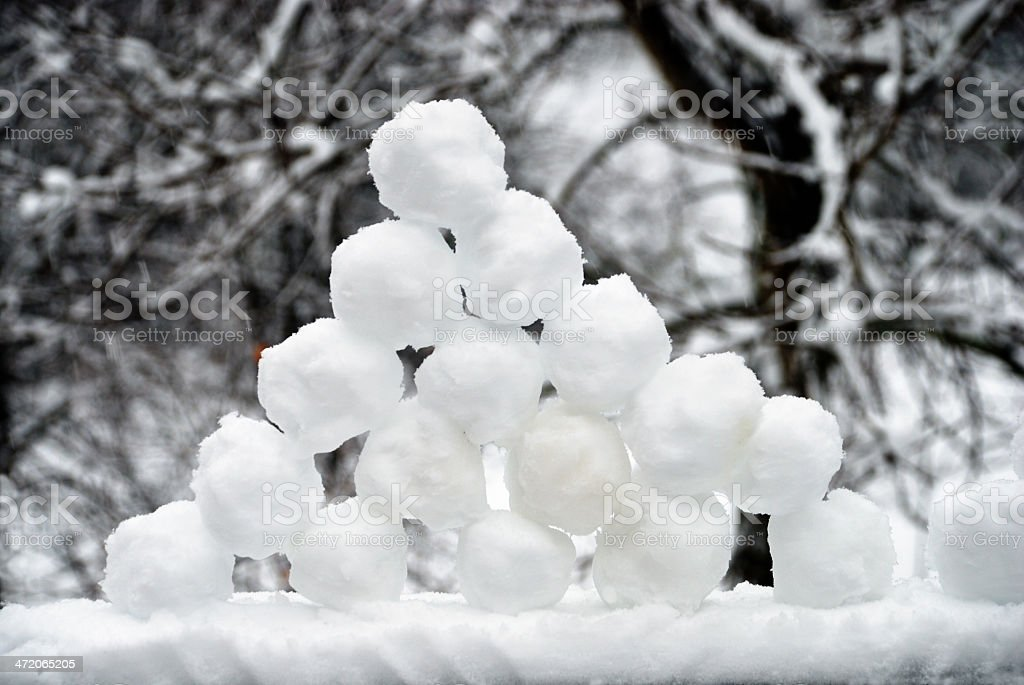 Freshly Made Pile Of Snowballs stock photo | iStock
