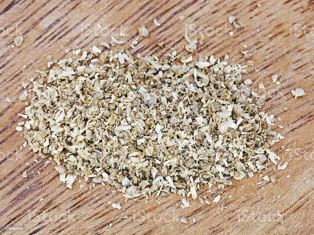 freshly milled dried coriander seeds royalty-free stock photo