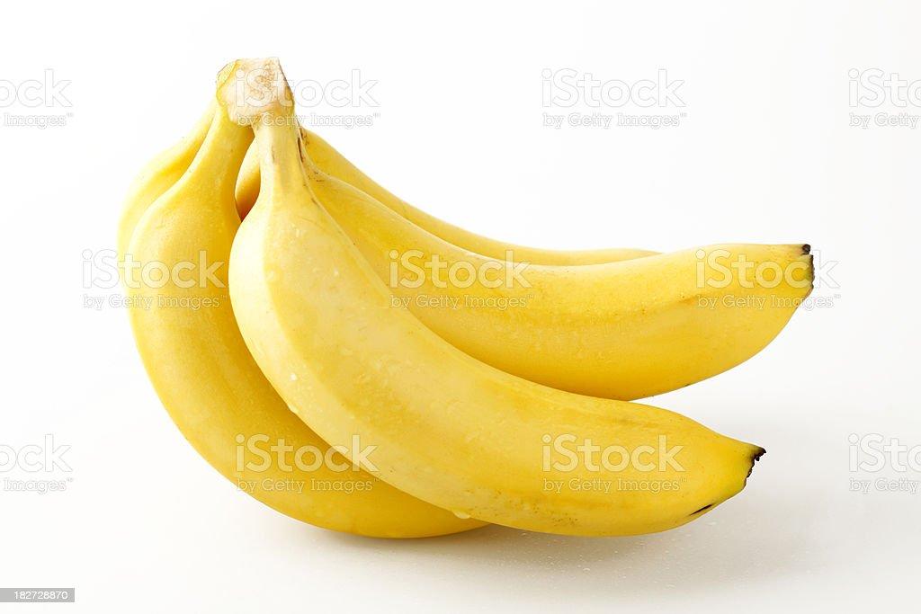 Freshly picked bananas royalty-free stock photo