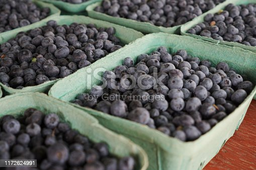 533340696istockphoto freshly picked blueberries at Market pint 1172624991
