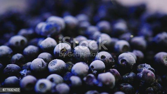 istock Freshly picked frozen blueberries 677532422