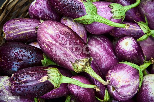 Eggplant right from the field