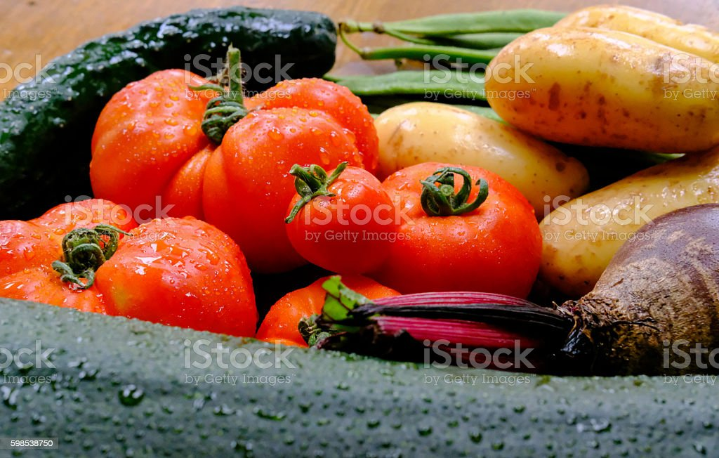Freshly picked, organically grown produce. photo libre de droits