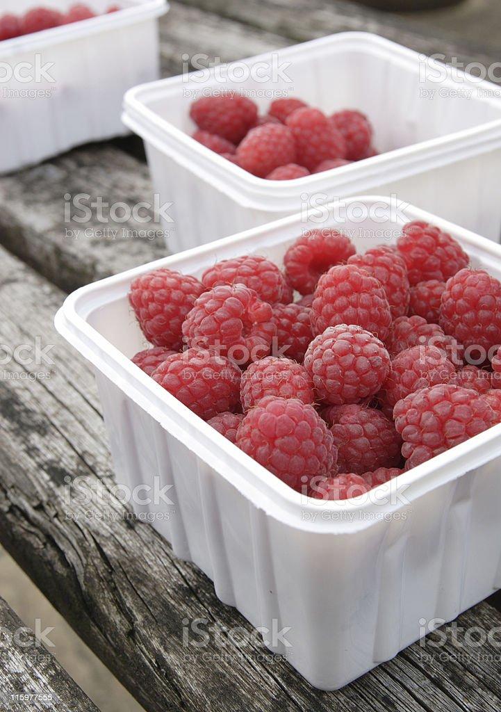 freshly picked raspberries royalty-free stock photo