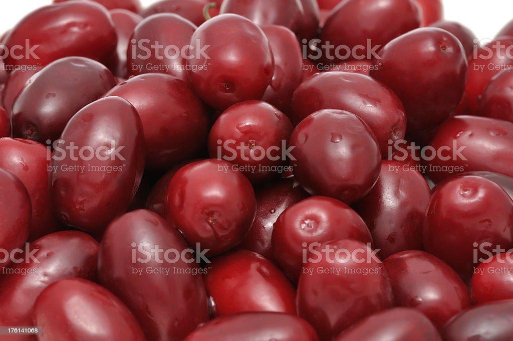 Freshly picked ripe cornel fruits royalty-free stock photo