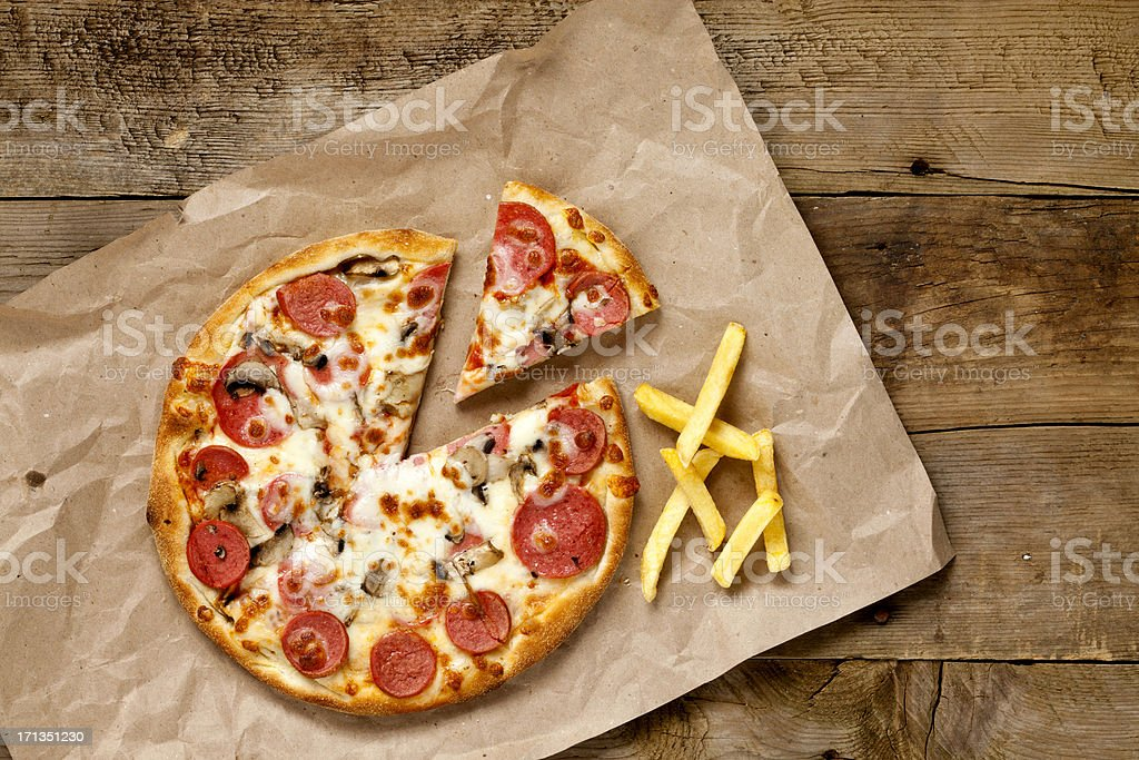 Freshly pizza royalty-free stock photo