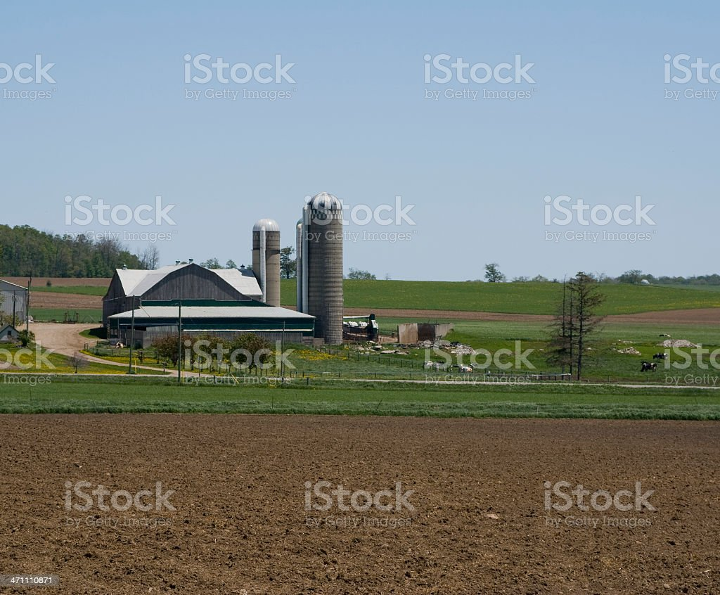 Freshly Ploughed Field royalty-free stock photo