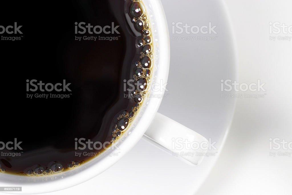 Freshly poured coffee royalty free stockfoto