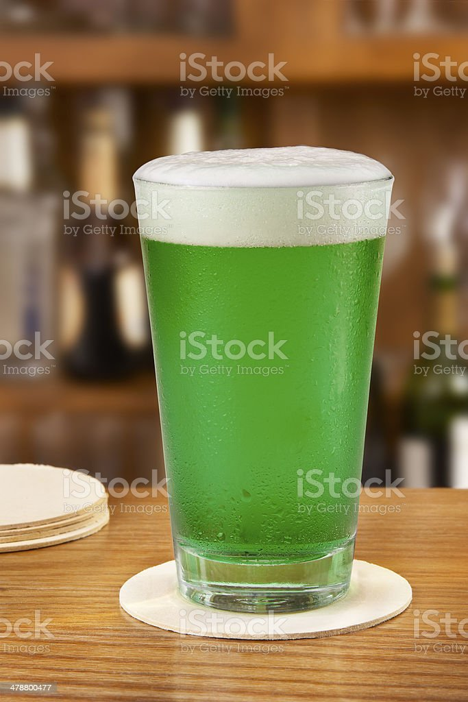 Freshly Poured Green beer royalty-free stock photo