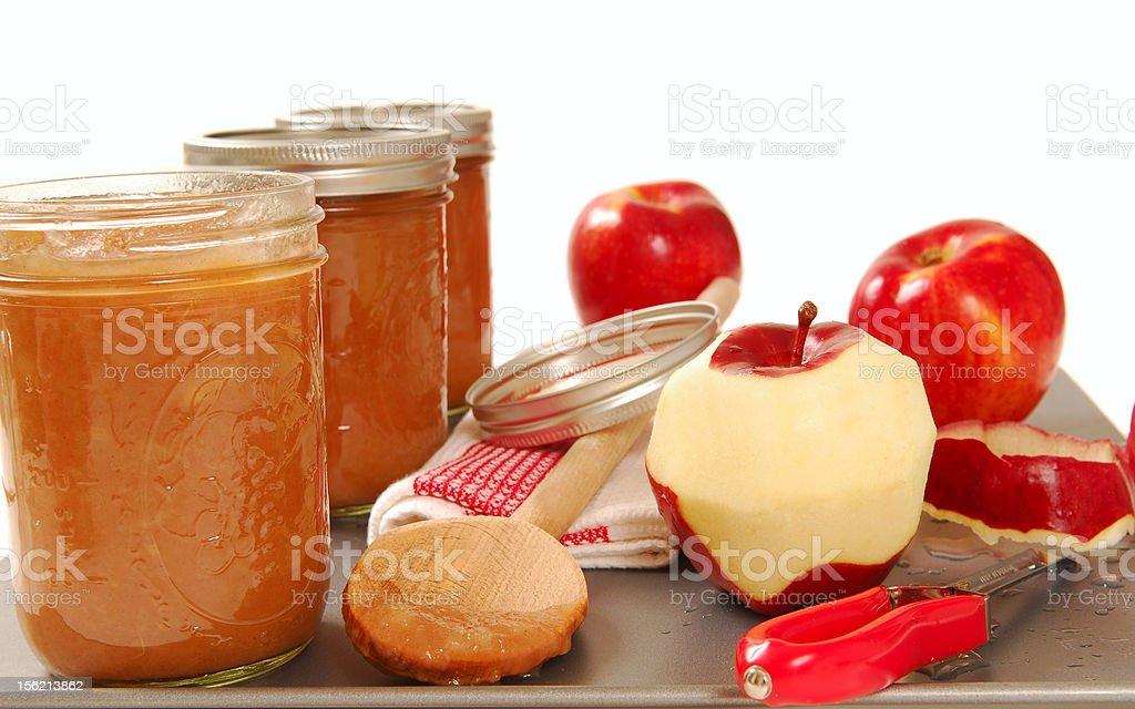 Freshly preserved apple sauce royalty-free stock photo