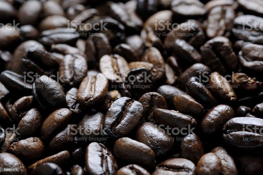 Granos de café recién tostado foto de stock libre de derechos
