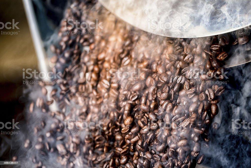 Freshly Roasted Gourmet Coffee Beans stock photo