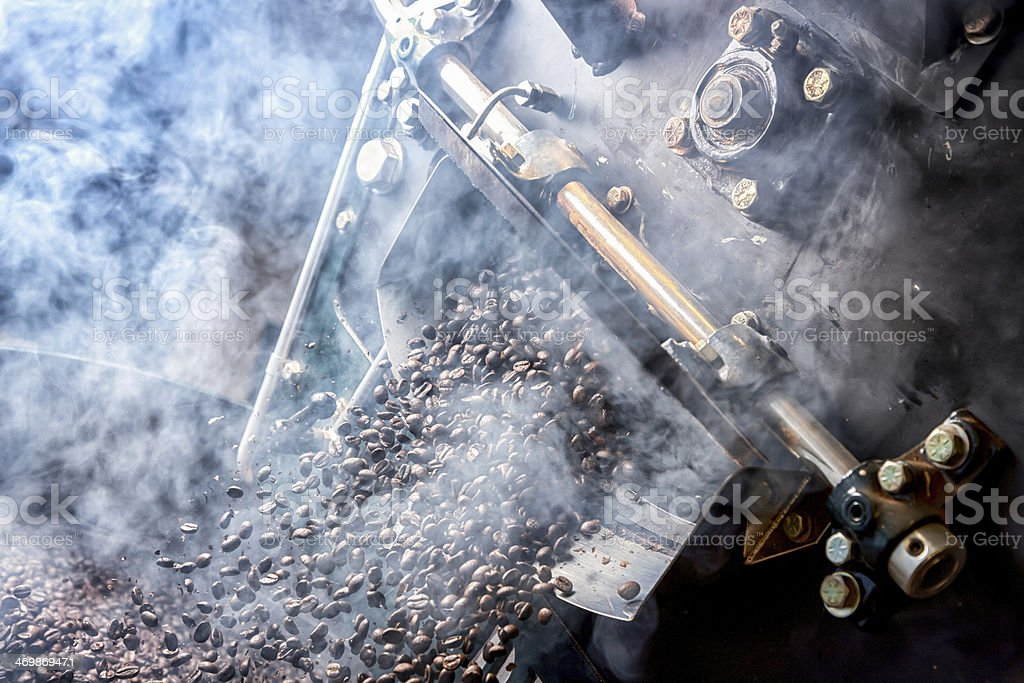 Freshly Roasted Gourmet Coffee Beans stock photo