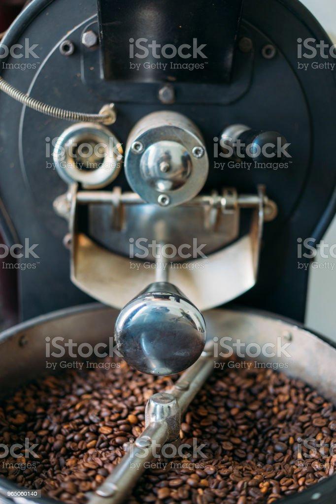 Freshly Roasted Gourmet Coffee Beans zbiór zdjęć royalty-free