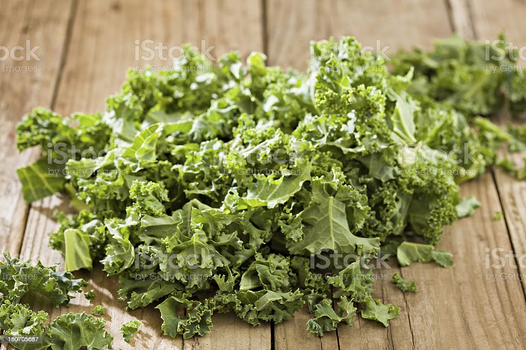 Freshly Shredded Kale royalty-free stock photo