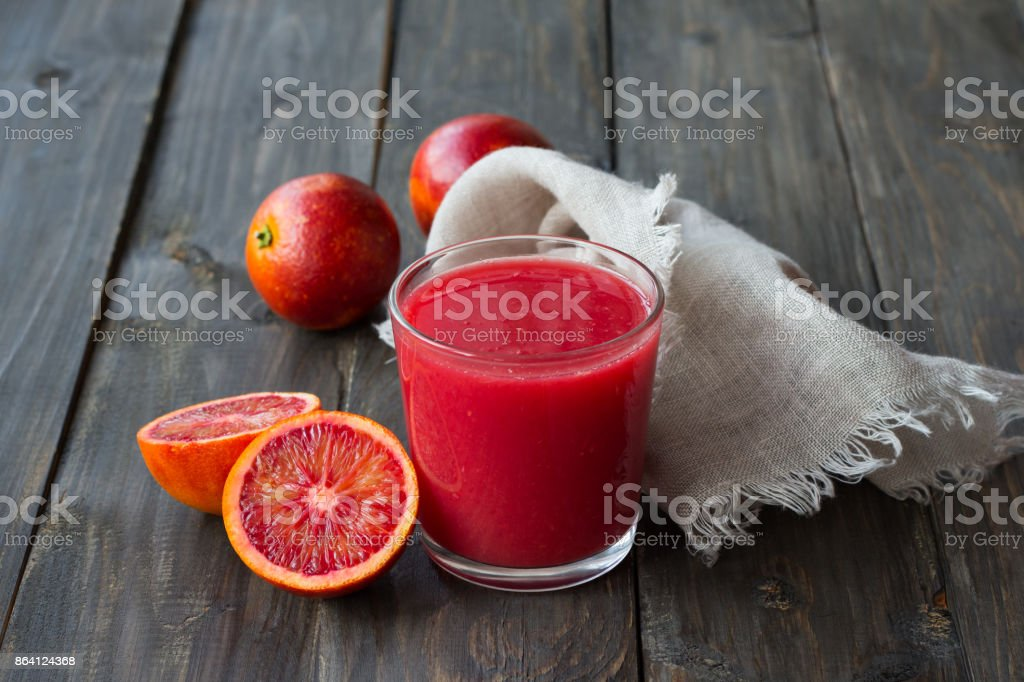 Freshly squeezed juice of blood oranges royalty-free stock photo