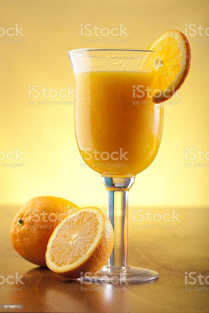 Freshly squeezed orange juice royalty-free stock photo