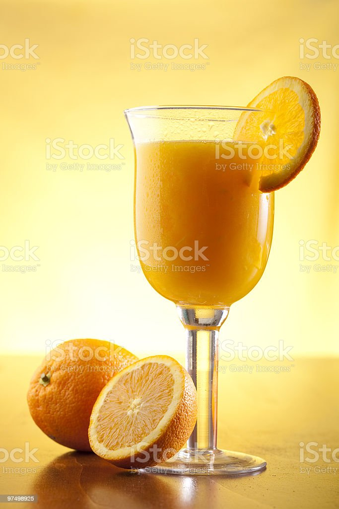 Freshly squeezed orange juice royalty-free stock photo