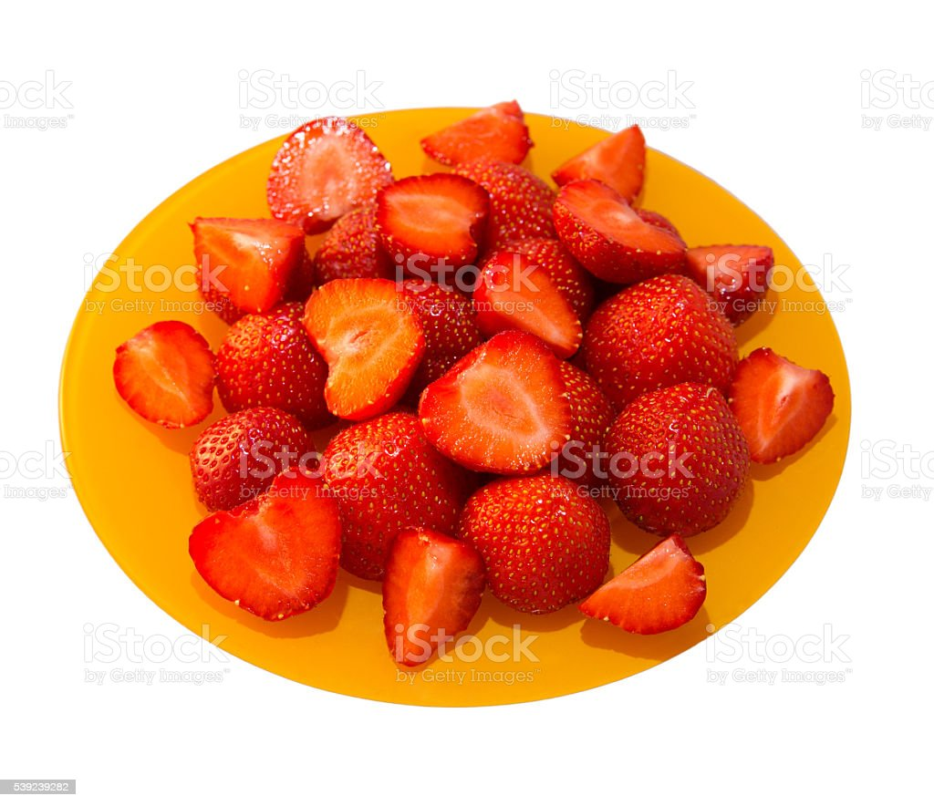 freshly strawberries royalty-free stock photo