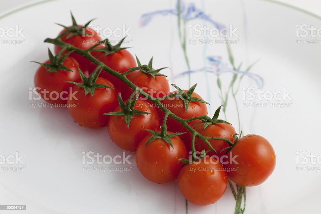 Freshly Washed Cherry Tomatoes stock photo