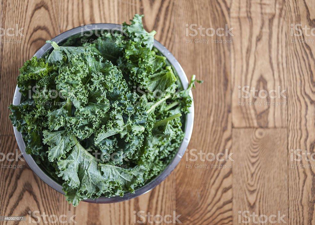 Freshly Washed Kale royalty-free stock photo