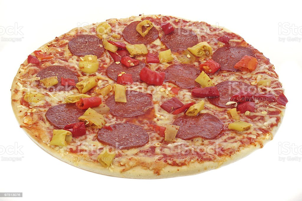 Freshly-baked pizza royalty-free stock photo