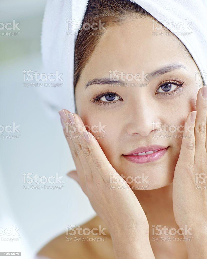 Freshly-showered radiance stock photo