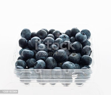 Freshness blueberries in plastic box.