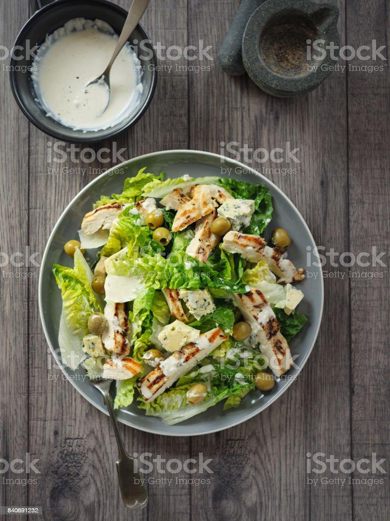 Freshness chicken salad stock photo
