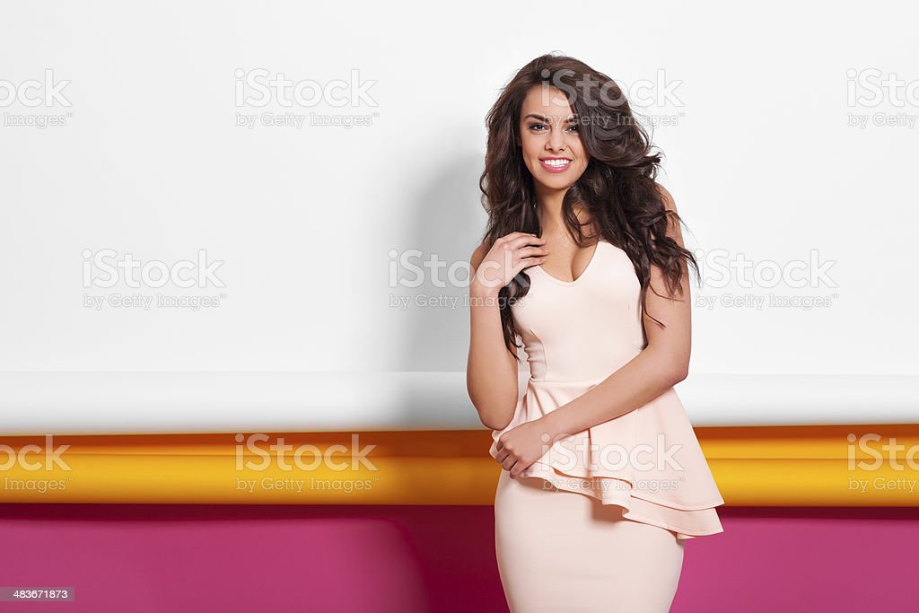 Freshness natural beauty of young woman stock photo