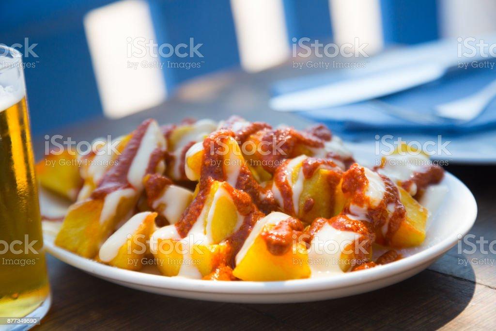 freshness potato food with tomato sauce stock photo