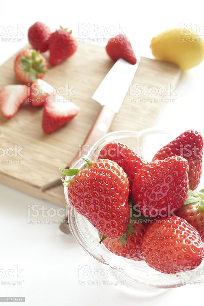 freshness strawberry from japan royalty-free stock photo
