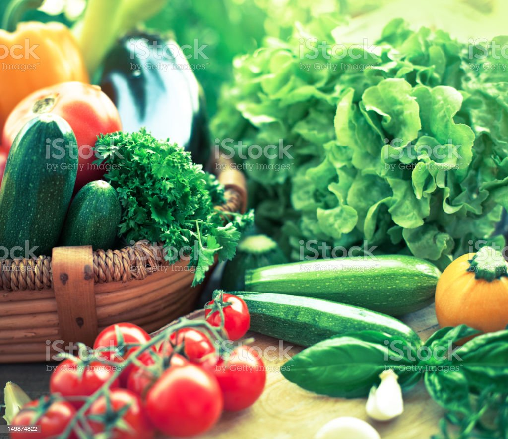 Freshness vegetables stock photo