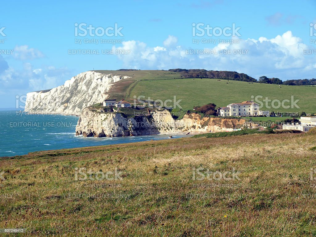 Freshwater Bay, Isle of Wight. stock photo