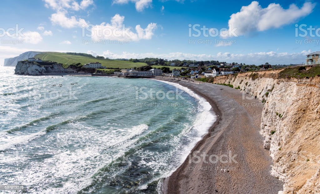 Freshwater Bay, Isle of Wight Lizenzfreies stock-foto