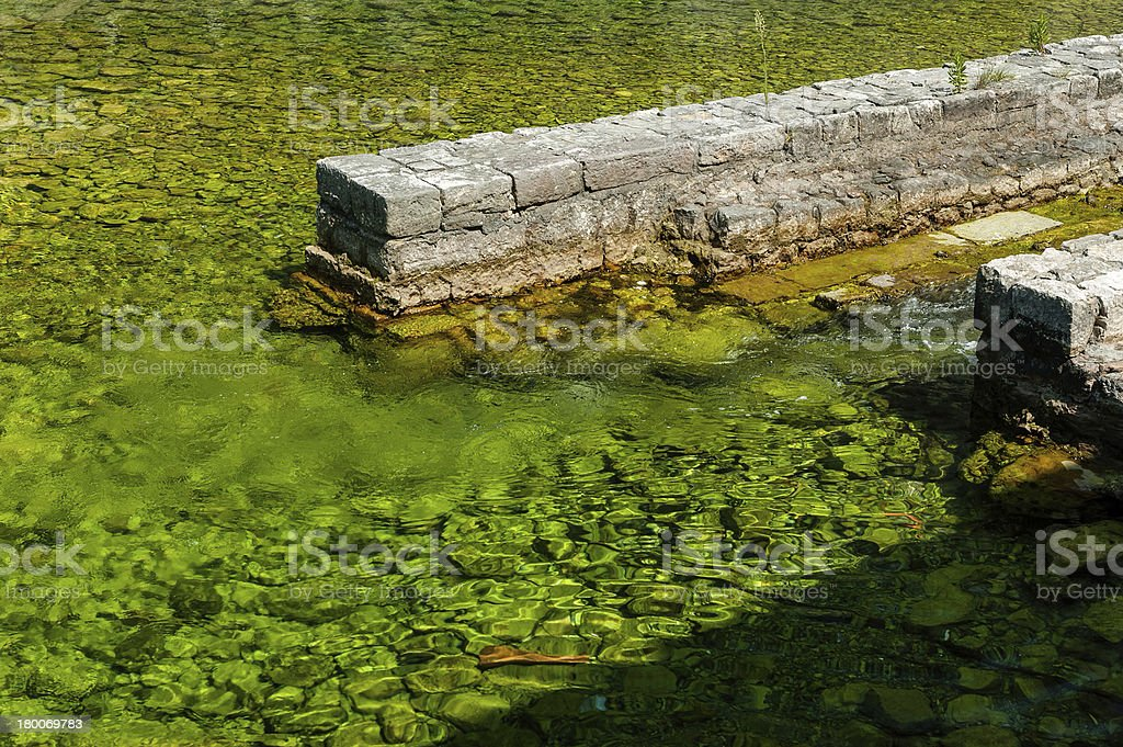 Freshwater joining the sea royalty-free stock photo
