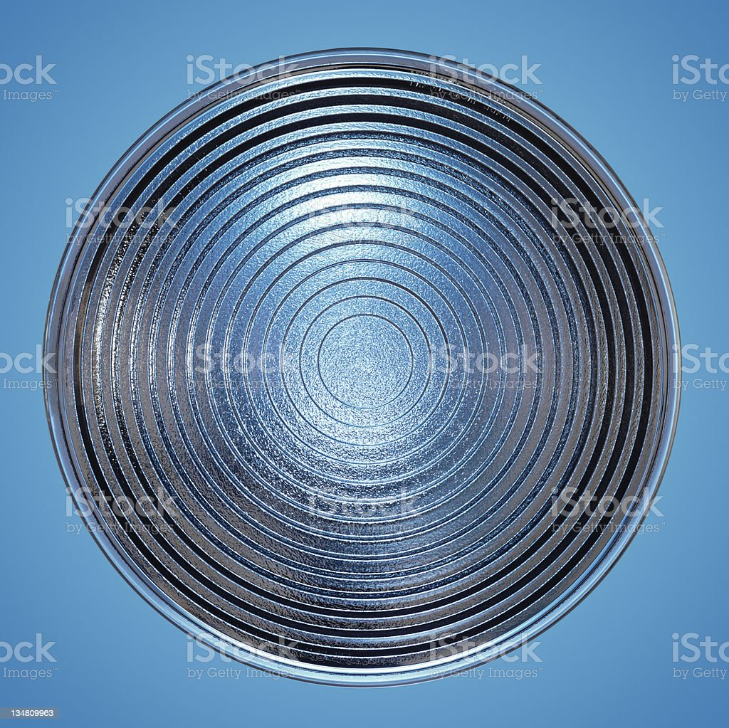 Fresnel lens in blue royalty-free stock photo
