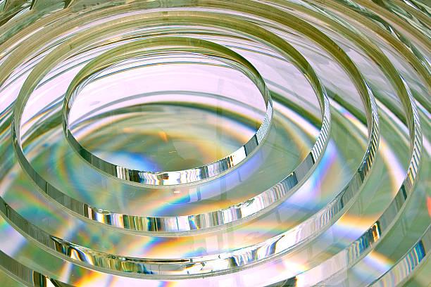 fresnel lens of lighthouse beacon stock photo