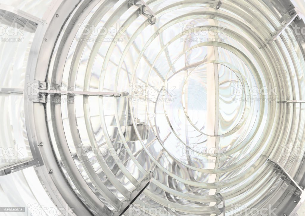 Fresnel lens of the lighthouse of Cape St. Vincent, Portugal royalty-free stock photo