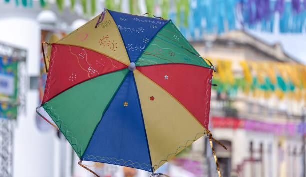 Frevo-Regenschirm aus Recife Stadt für den Karneval 2019 – Foto