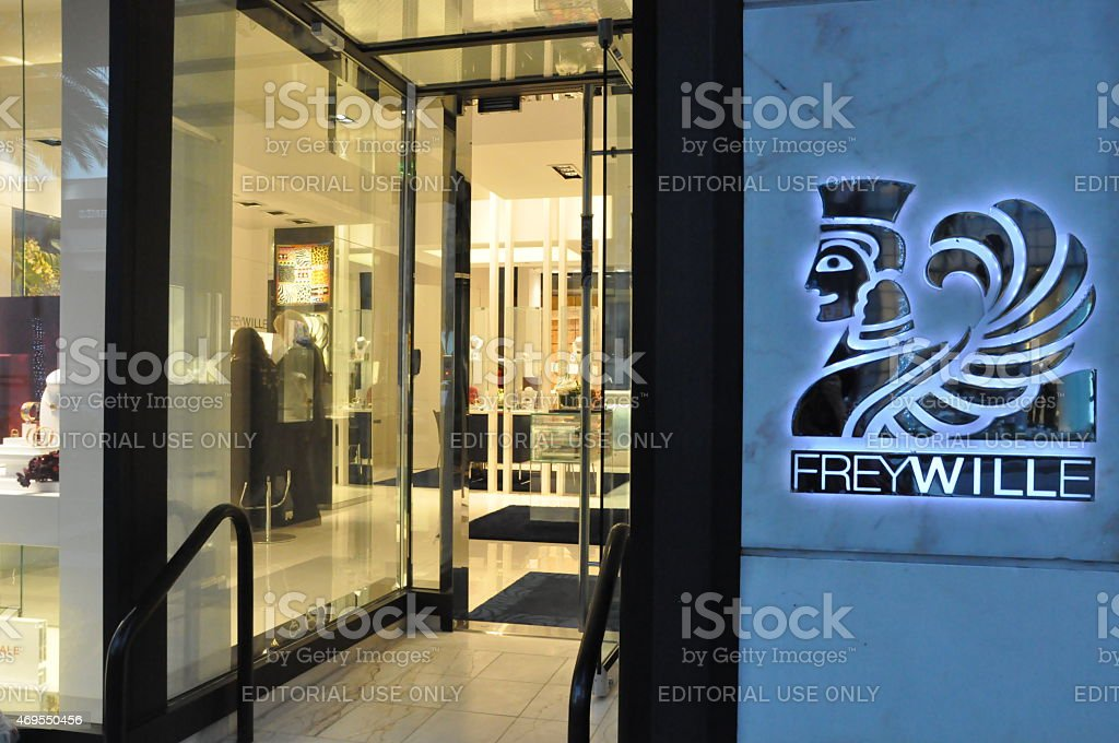 Frey Wille store at Rodeo Drive in Beverly Hills, California stock photo