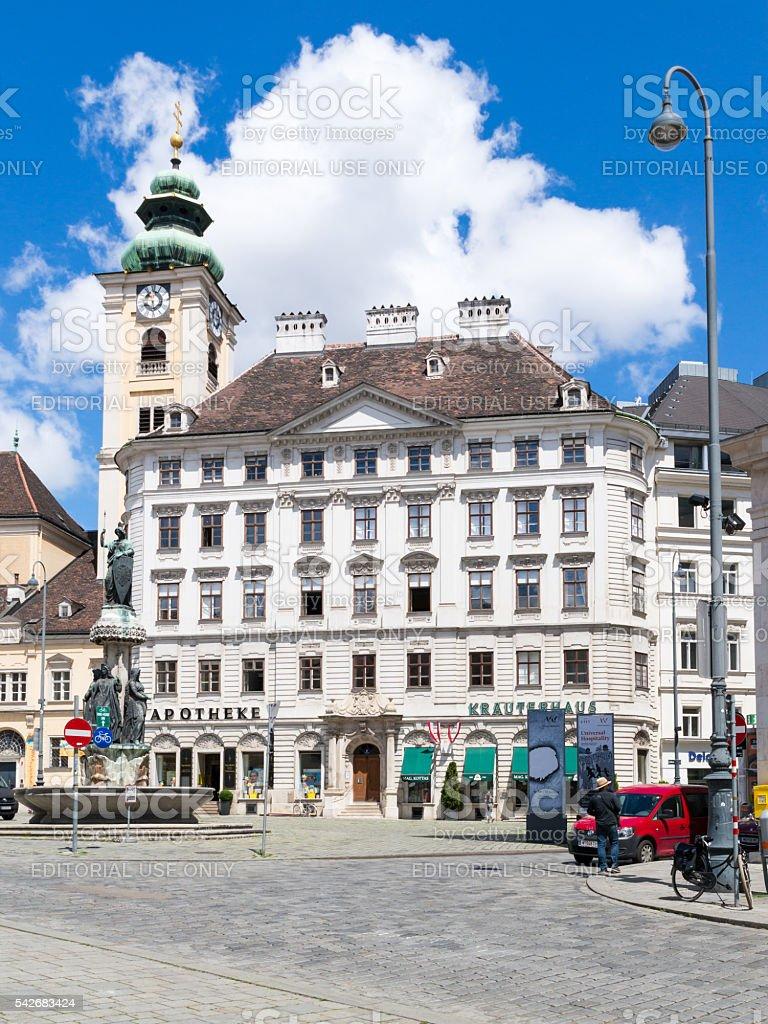 Freyung square in Vienna, Austria stock photo