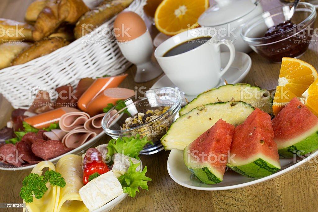 frühstückstisch stock photo