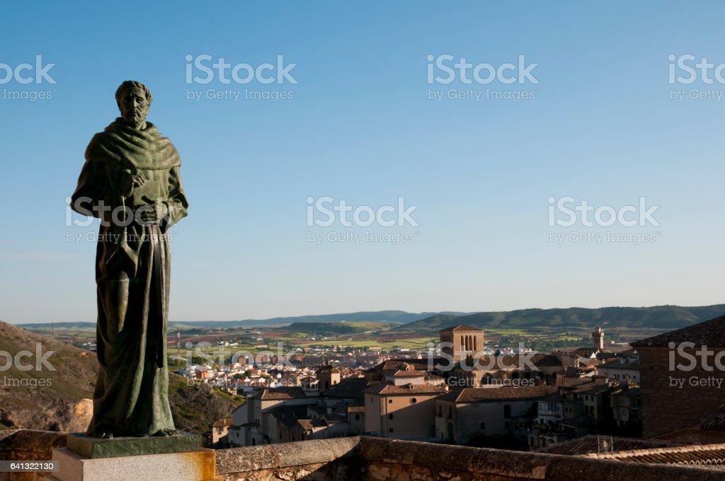 Friar Statue - Cuenca - Spain stock photo